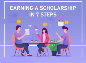 Download the earning a scholarship in 7 steps infographics HERE